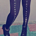 D.I.Y: Studded Tights + Whipping hair