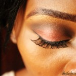 Wine and Gold Eye Makeup