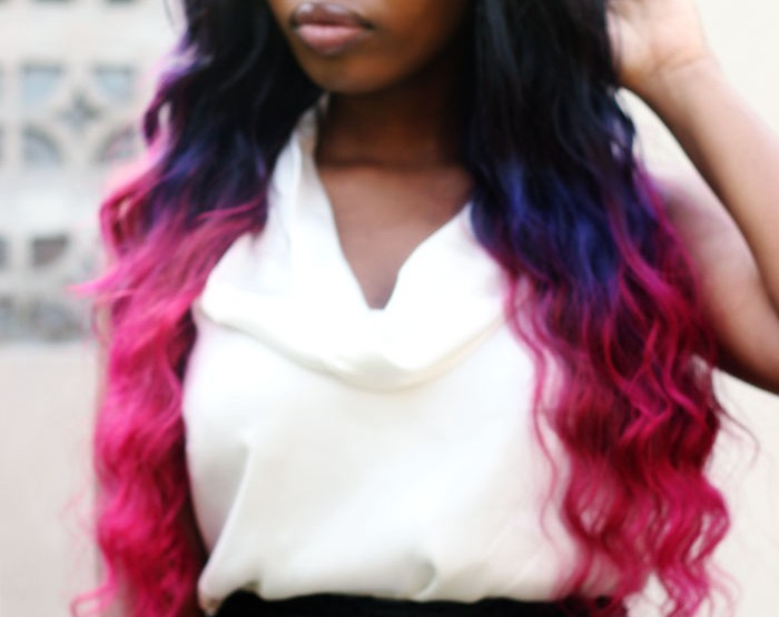 Violet and Pink Ombre Hair