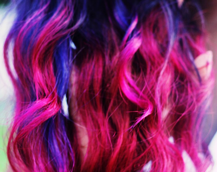 How I Dyed My Hair Pink and Violet