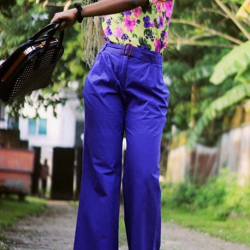 What I wore: Floral Tshirt X High Waist Pants
