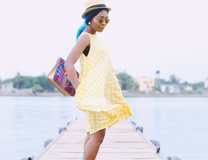 What I wore: Polka Dot Shift dress