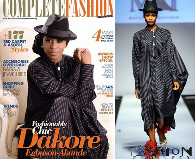 DAKORE EGBUSON-AKANDE COVERS COMPLETE FASHION MAGAZINE IN MAI ATAFO