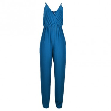 LUV Cami Strap Style Jumpsuit - Blue