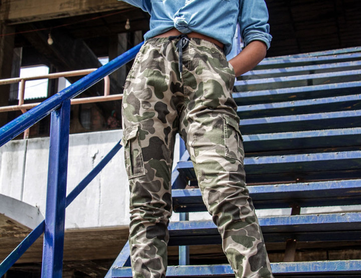 What I Wore: Denim Camouflage Shirt X Camouflage Pants