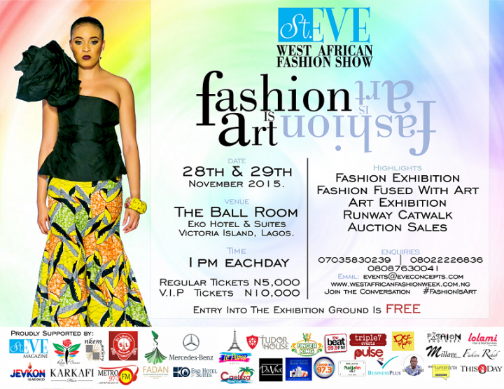 Win tickets to the St. Eve West African Fashion Week 2015!