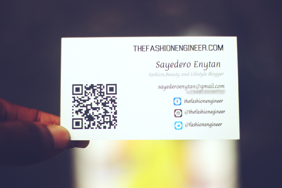 Blogger Business Cards - The Fashion Engineer