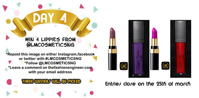 #TFEGIVEAWAYWEEK  Day 4 : Lmcosmetics Lippies #CLOSED