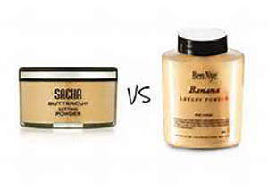 Ben Nye Banana Powder Vs Sacha Cosmetics Buttercup Setting Powder