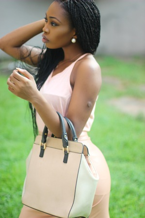 What I Wore: Peach on Peach Monochrome